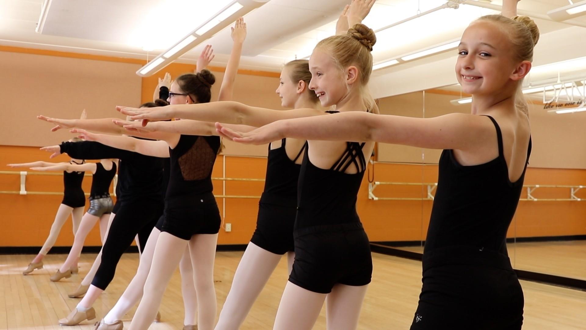 Dance class in studio